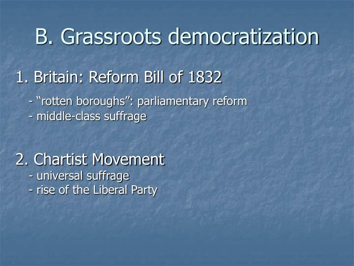 B. Grassroots democratization