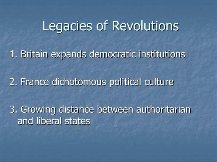 Legacies of Revolutions