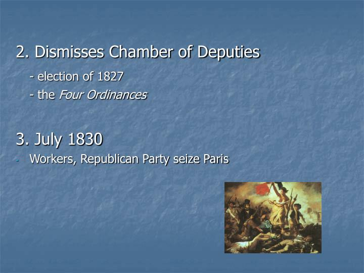 2. Dismisses Chamber of Deputies