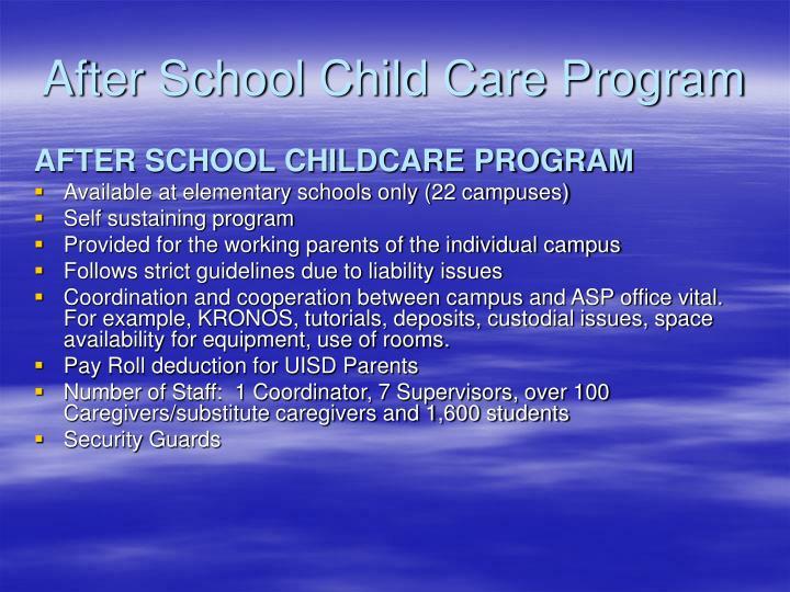 After School Child Care Program