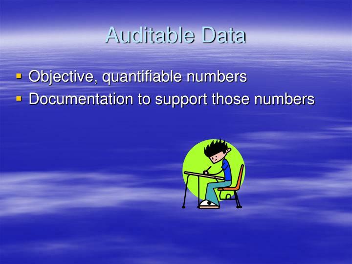 Auditable Data