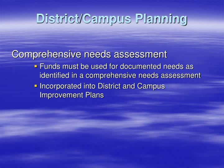 District/Campus Planning