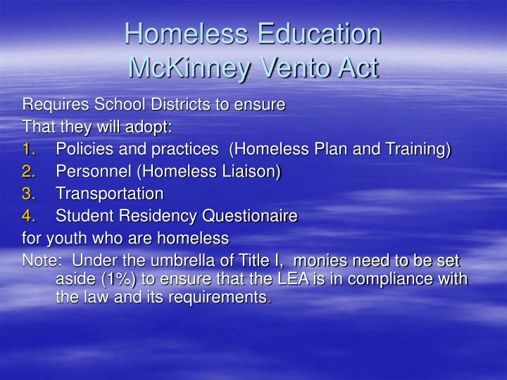 Homeless Education