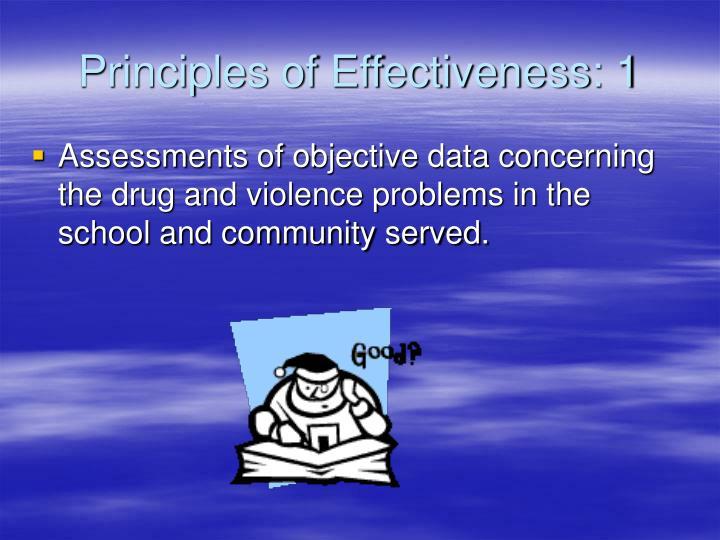 Principles of Effectiveness: 1