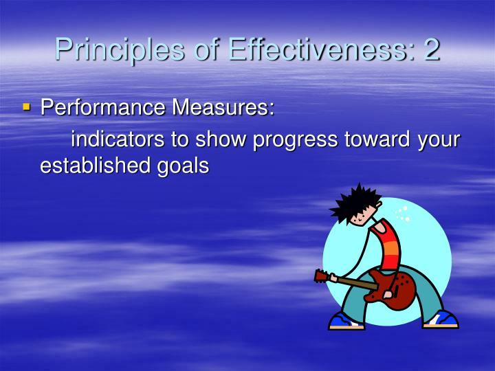 Principles of Effectiveness: 2