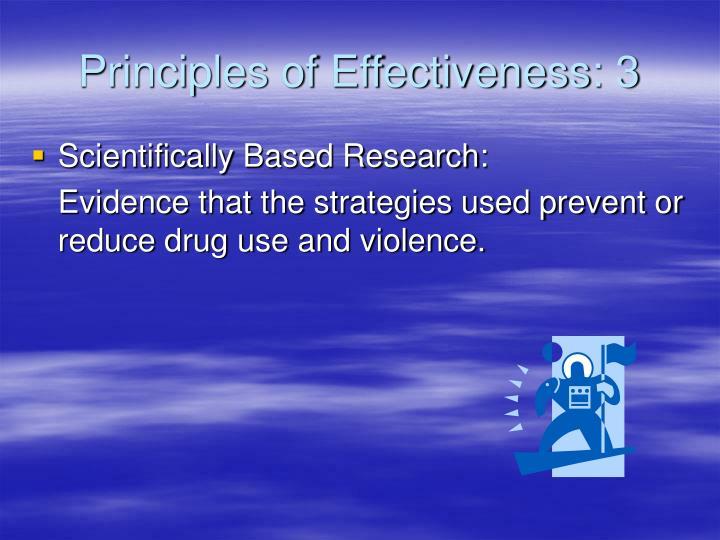 Principles of Effectiveness: 3