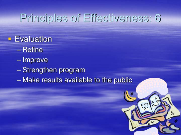 Principles of Effectiveness: 6
