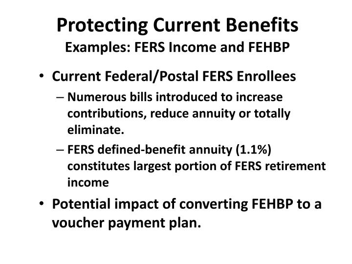 Protecting Current Benefits