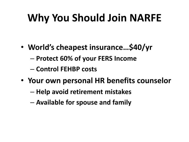 Why You Should Join NARFE