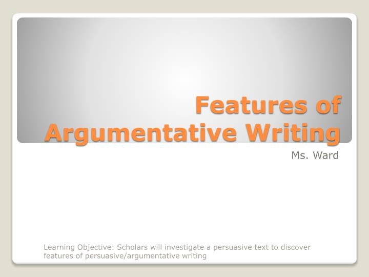 Features of argumentative essay creative writing college courses
