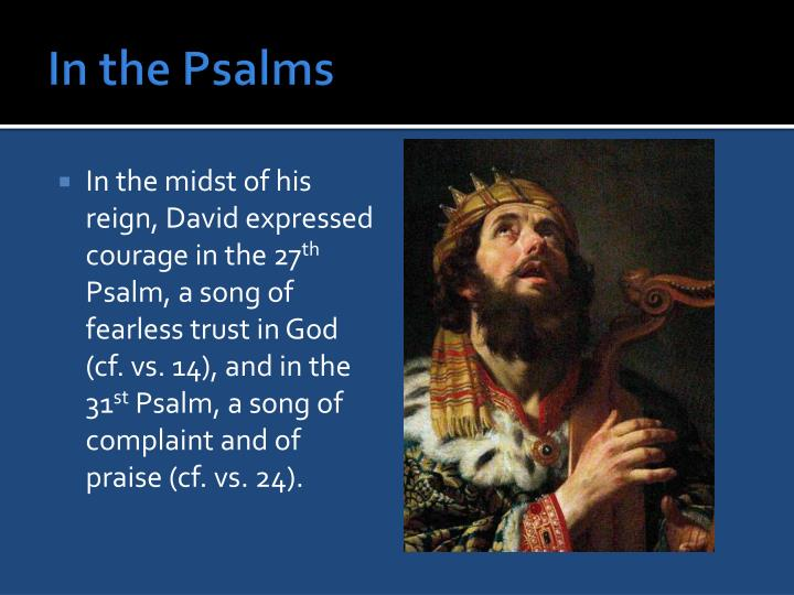 In the Psalms