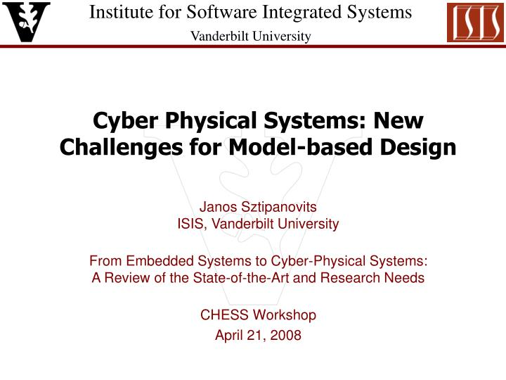 Ppt Cyber Physical Systems New Challenges For Model Based Design Powerpoint Presentation Id 1775059