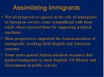 assimilating immigrants