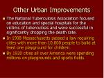 other urban improvements