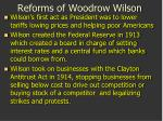 reforms of woodrow wilson