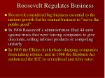 roosevelt regulates business