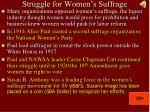 struggle for women s suffrage