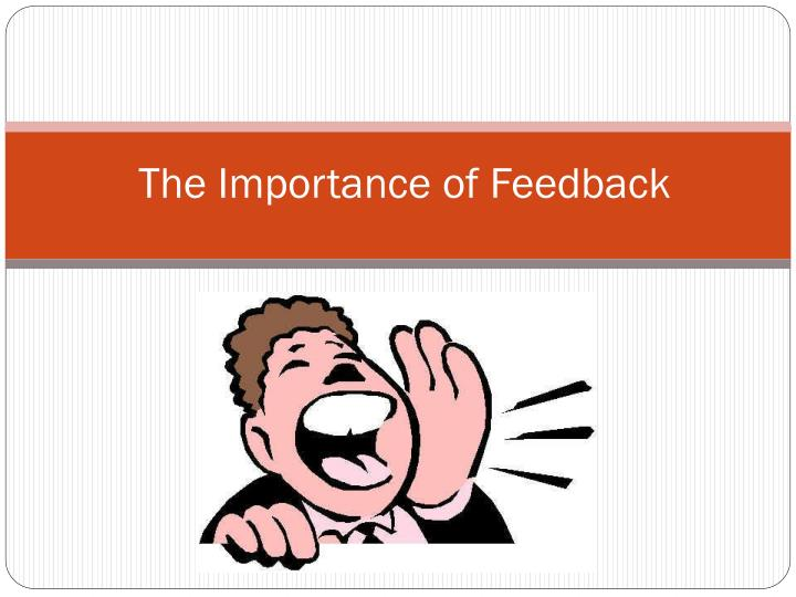 the importance of feedback n.