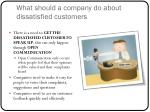 what should a company do about dissatisfied customers