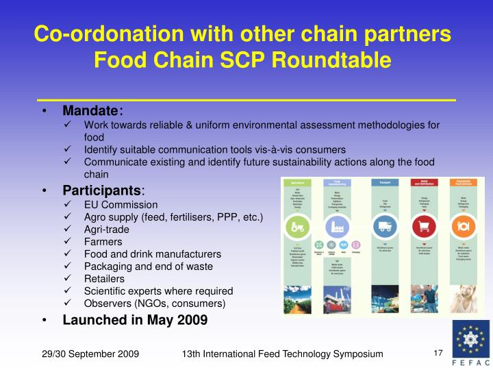 Co-ordonation with other chain partners