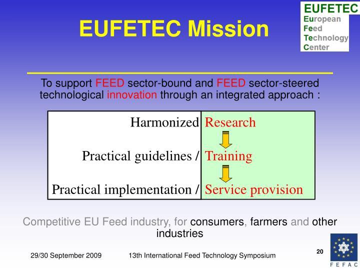 EUFETEC Mission