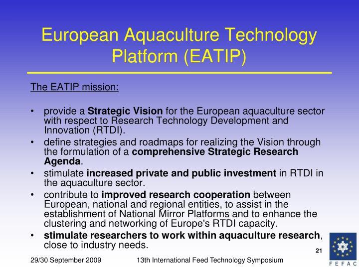 European Aquaculture Technology Platform (EATIP)