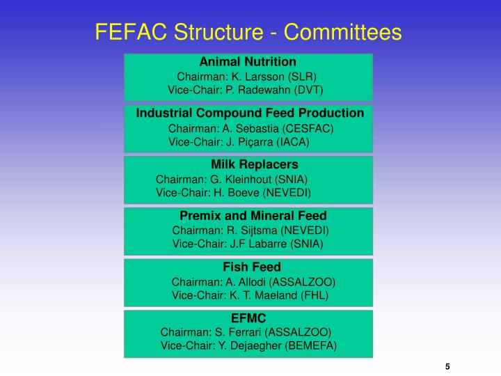 FEFAC Structure - Committees