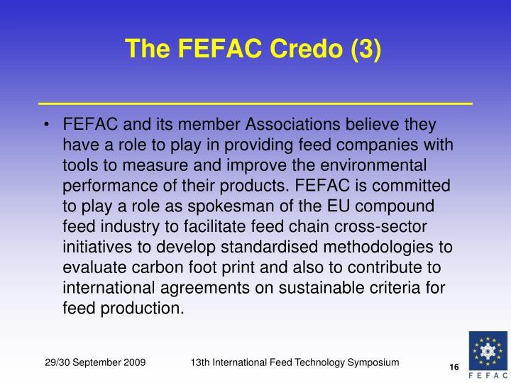 The FEFAC Credo (3)