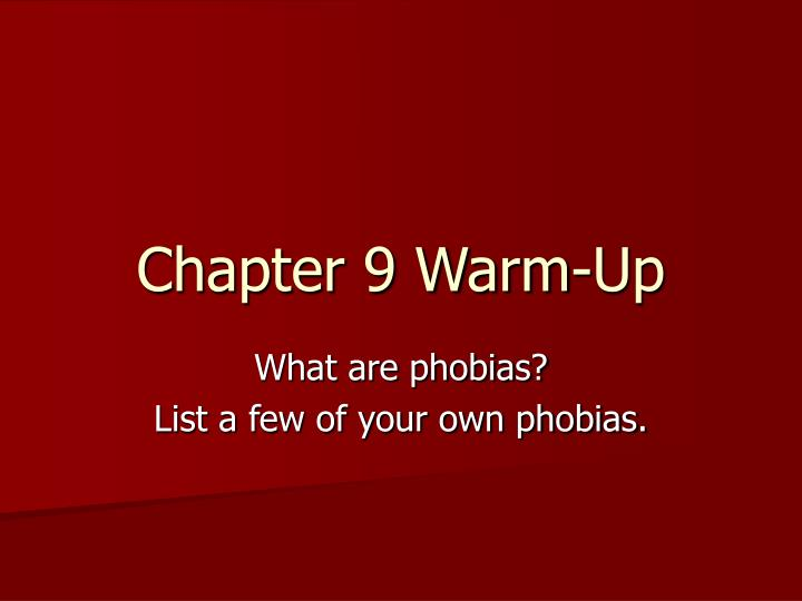 chapter 9 warm up