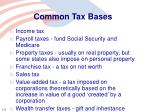 common tax bases