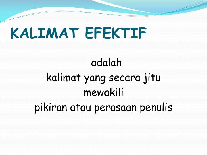 Kalimat efektif1