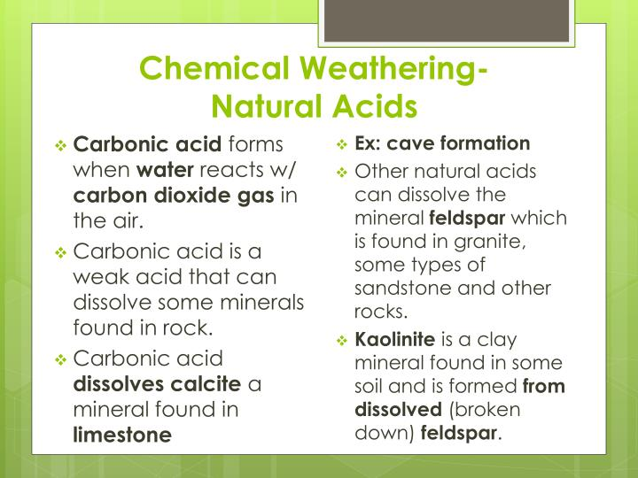 Chemical Weathering-