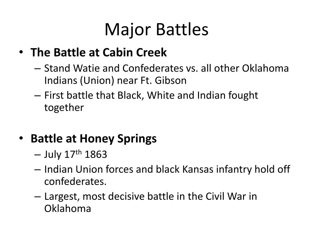 PPT - Chapter 9- Civil War In Oklahoma PowerPoint