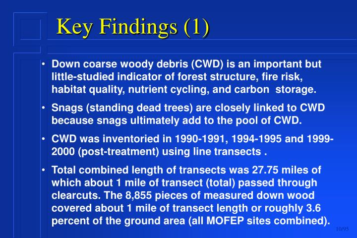 Down coarse woody debris (CWD) is an important but little-studied indicator of forest structure, fire risk, habitat quality, nutrient cycling, and carbon  storage.