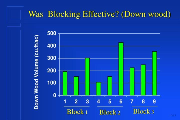 Was  Blocking Effective? (Down wood)