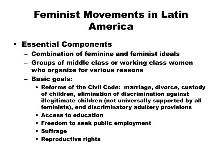 an analysis of the topic of the western feminist movements The term western feminism is broad and to some extent homogenizes the various movements that comprise it nevertheless, there is a certain body of knowledge with certain underlying assumptions that together distinguish a general approach that can be termed western feminism.