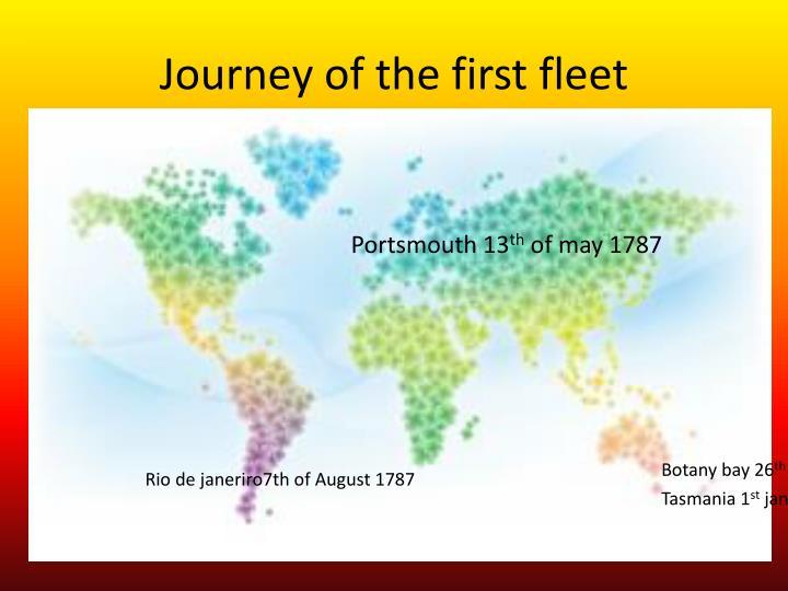Journey of the first fleet