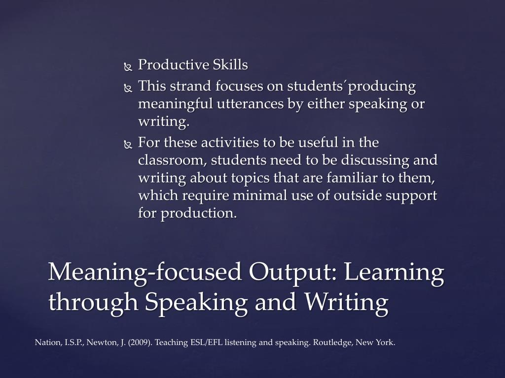 PPT - Teaching Methods for the Instruction of Listening and Speaking