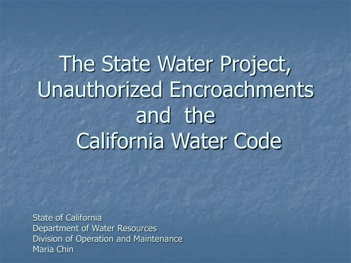 an analysis of the use of the california water Quick guide to drinking water sample collection  2 disclaimer this document provides a general summary of techniques used by epa region 8 laboratory staff for the collection of chemistry samples for drinking water analysis other approaches to sample collection may be acceptable or desirable under given conditions this document is.