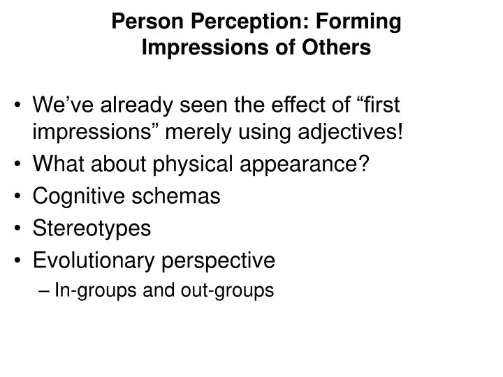 forming impressions of others