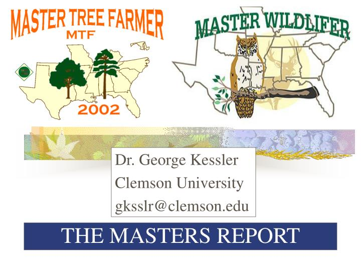 the masters report n.