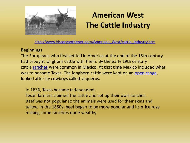 american west the cattle industry n.