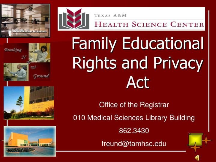 family educational rights and privacy act n.
