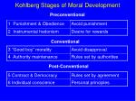 kohlberg stages of moral development