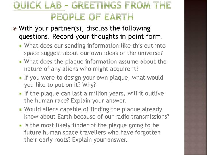 Ppt how ideas of the universe have changed over time powerpoint quick lab greetings from the people of earth m4hsunfo