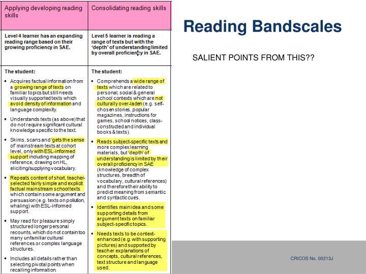Reading Bandscales