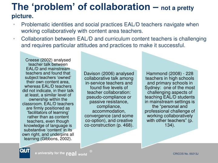 The 'problem' of collaboration –