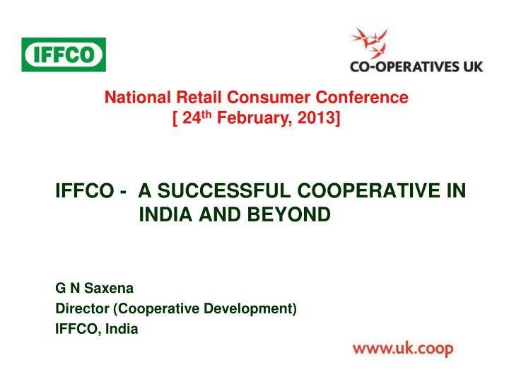 iffco a successful cooperative in india and beyond n.