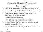 dynamic branch prediction summary