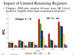 impact of limited renaming registers